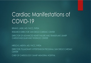 SMH Coronavirus and the Heart: Case Presentation, Manifestations, and Therapies 05.01.20 - Online Banner