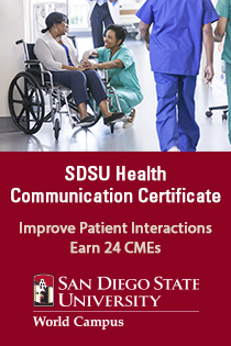 SDSU Health Communication Certificate Banner