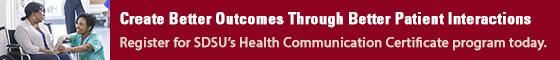 SDSU Health Communication Certificate Banner