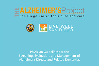 SHC Physician Guidelines for Screening, Evaluation & Management of Alzheimer's Disease & Related Dementias - Online Banner